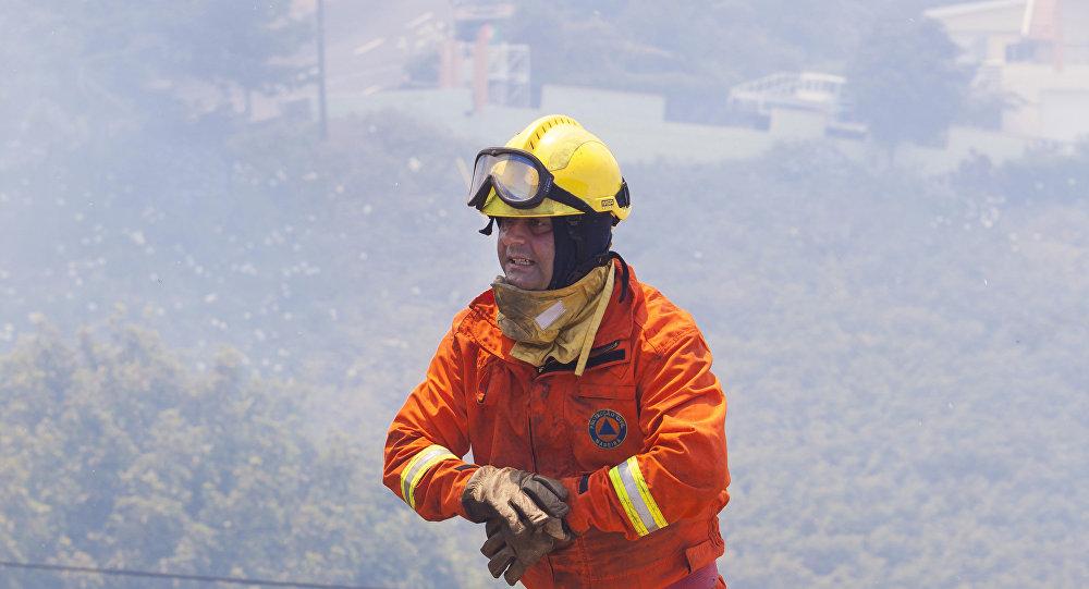 Un bombero portugués