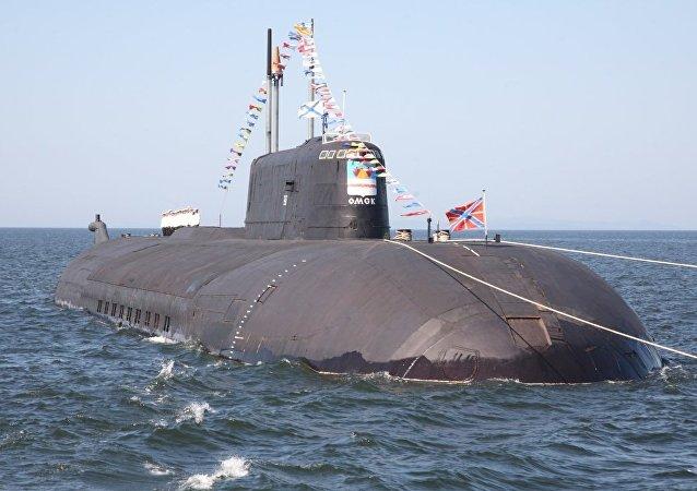 Un submarino del proyecto 949A Antey