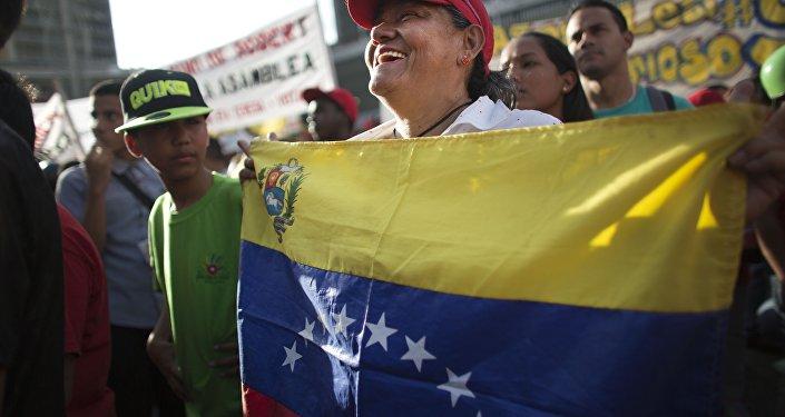 Partidario del partido venezolano PSUV
