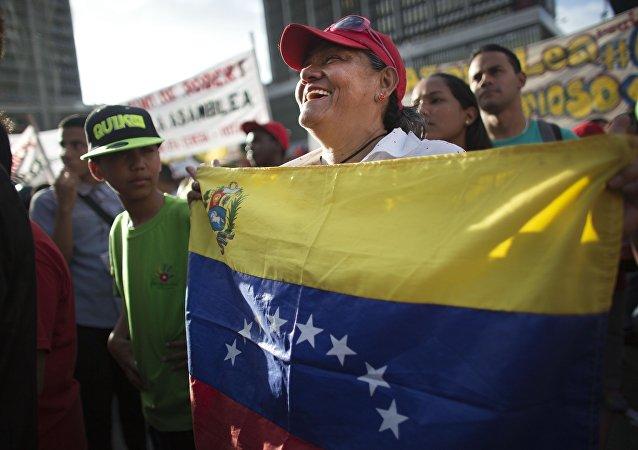 Partidario del partido venezolano PSUV (archivo)