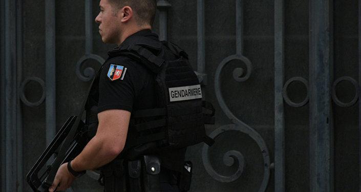 Agente de seguridad francés (archivo)