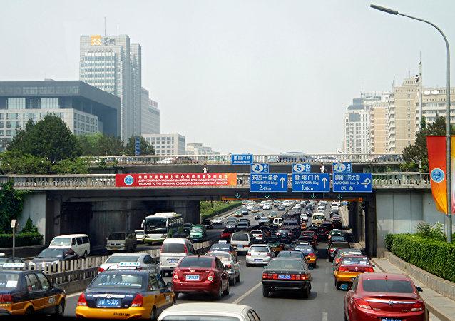 El tráfico en Pekín