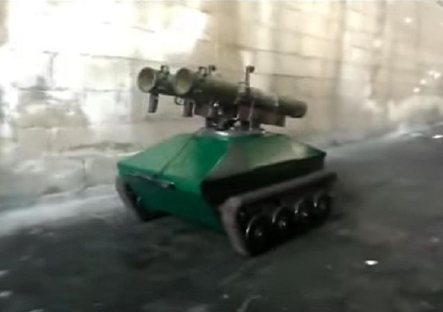 Ingenieros sirios prueban su propio robot antitanque