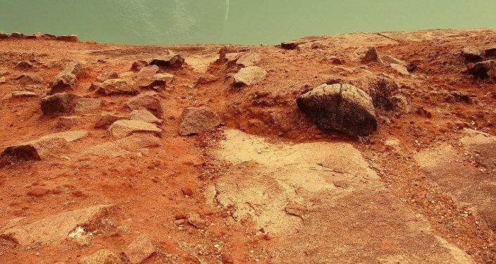 La superficie de Marte (ilustración)