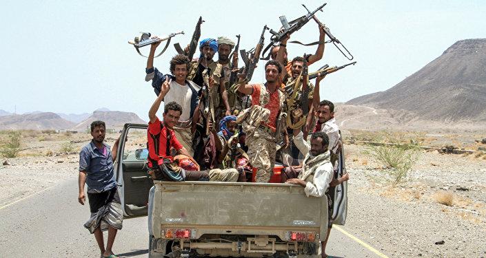 Los partidarios yemeníes de la coalición liderada por Arabia Saudí (archivo)