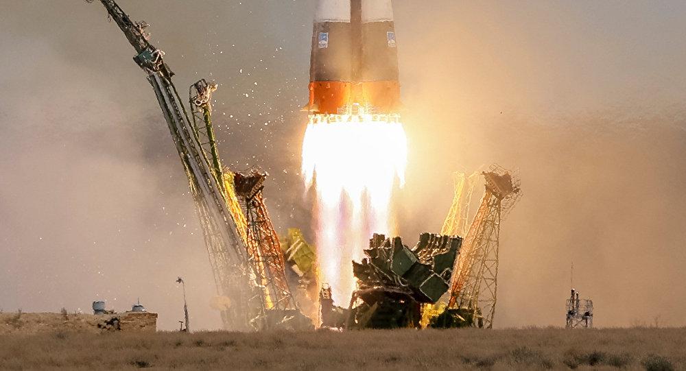 La nave rusa Soyuz MS-04 (archivo)