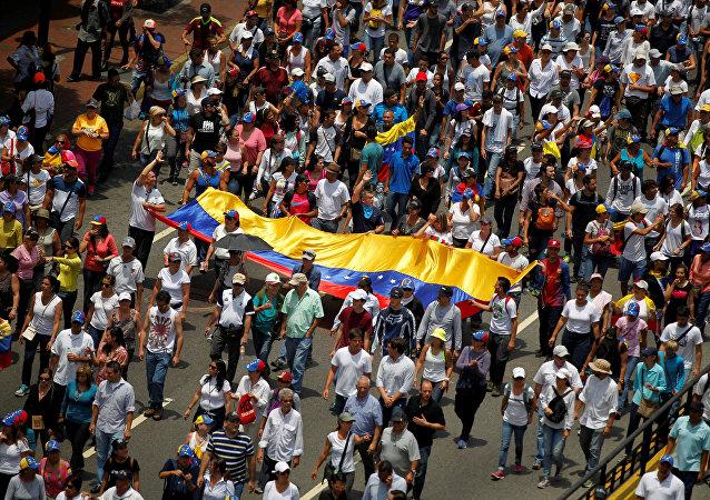 Manifestación de oposición en Venezuela (archivo)