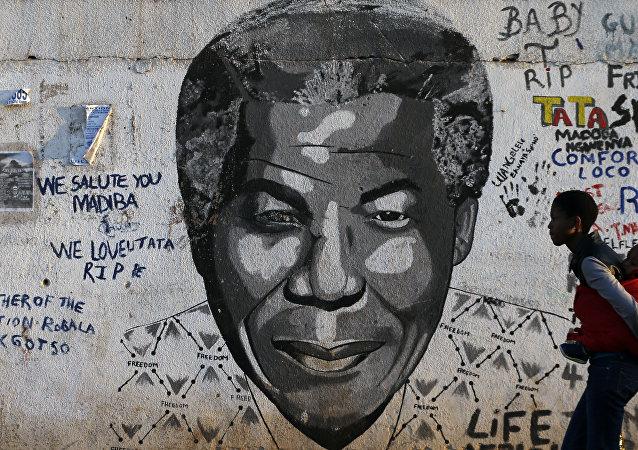 Retrato de Nelson Mandela