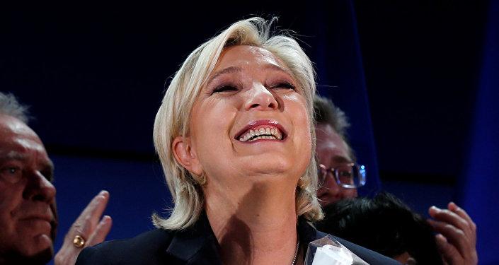 Marine Le Pen, la líder del Frente Nacional y candidata a la presidencia francesa