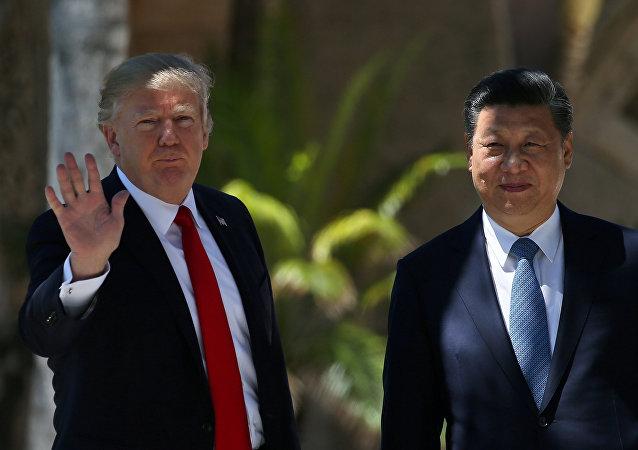 Presidente estadounidense, Donald Trump, y su homólogo chino, Xi Jinping