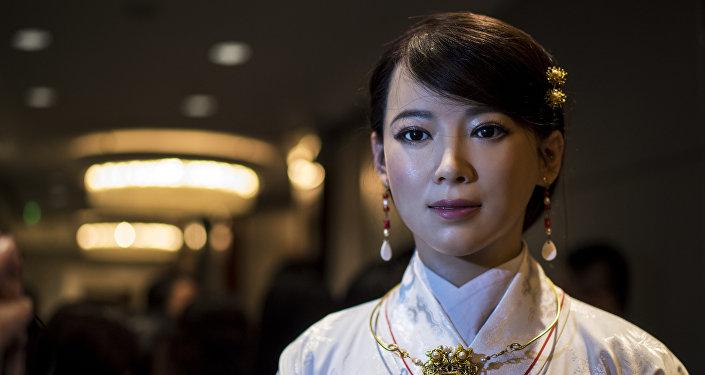 La robot humanoide de China Jia Jia
