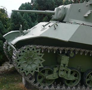 Un tanque M3 Stuart