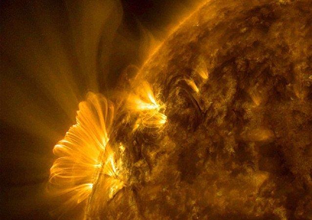 Una erupción solar