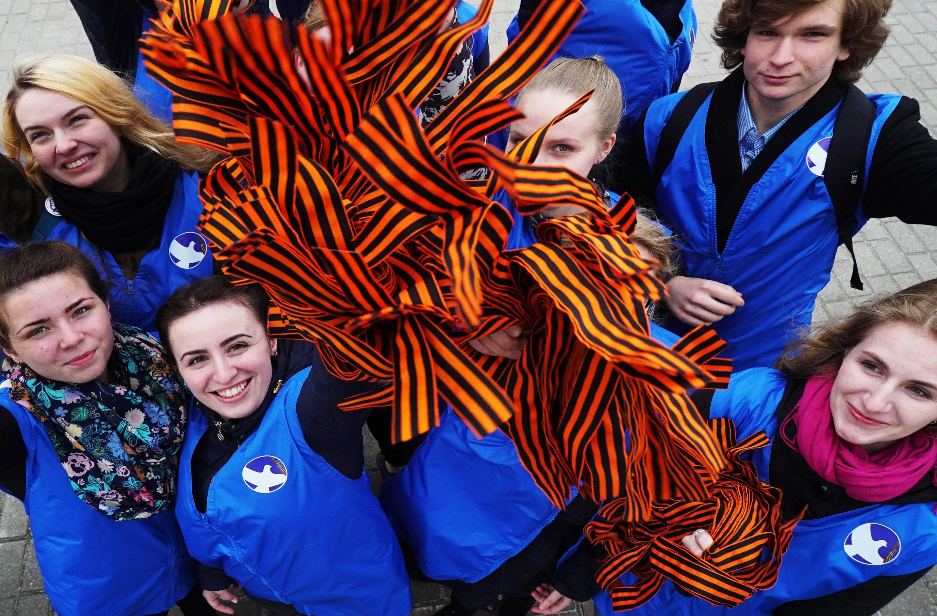 En Rusia arranca la acción 'Cinta de San Jorge'