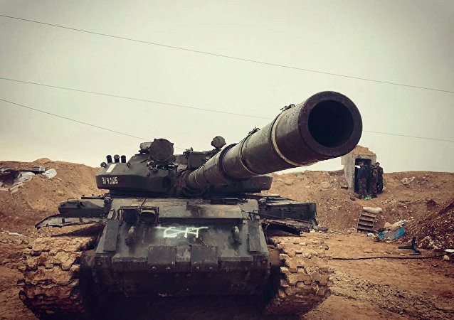 Las tropas gubernamentales sirias en la provincia Hama