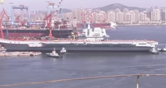 Botadura del nuevo portaviones de China