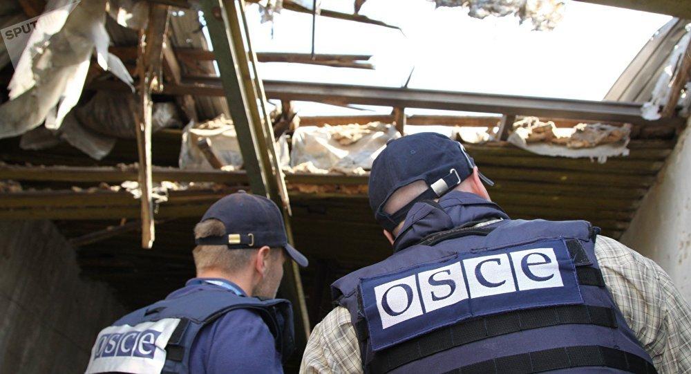 Los representantes de la OSCE en el este de Ucrania