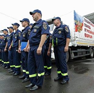 Llega a Donbás el 55º convoy humanitario ruso