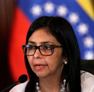 Delcy Rodríguez, vicepresidenta Venezuela (archivo)