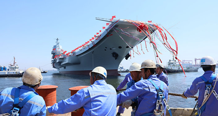 La botadura del segundo portaviones chino, Shandong