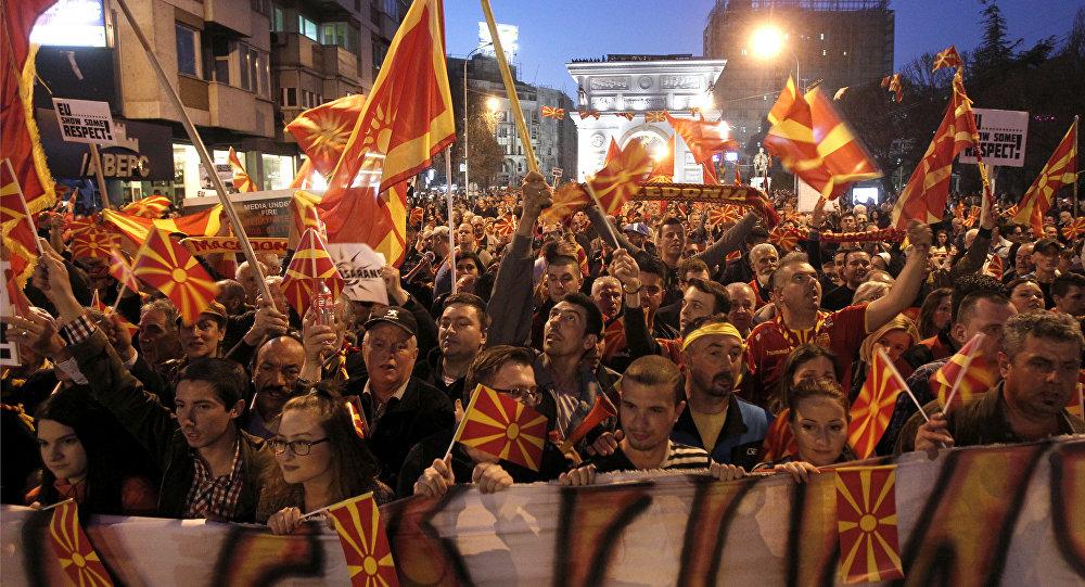 Protestas en Macedonia (archivo)