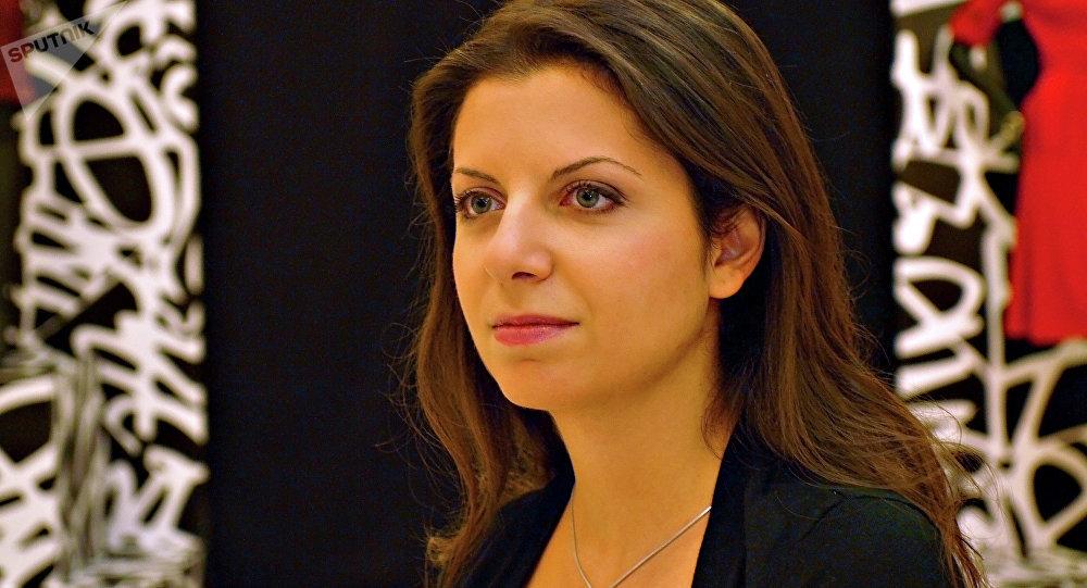 La redactora jefa del grupo mediático Rossiya Segodnya y de la cadena RT, Margarita Simonián