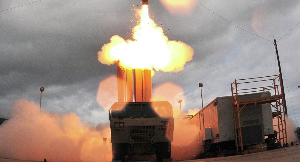 Lanzamiento de prueba de un misil THAAD