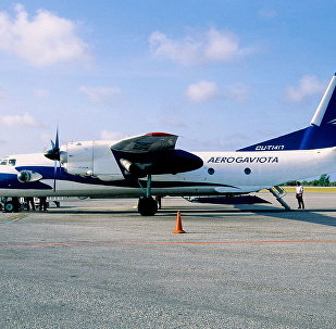 Aeronave An-26 perteneciente a Aerogaviota (archivo)