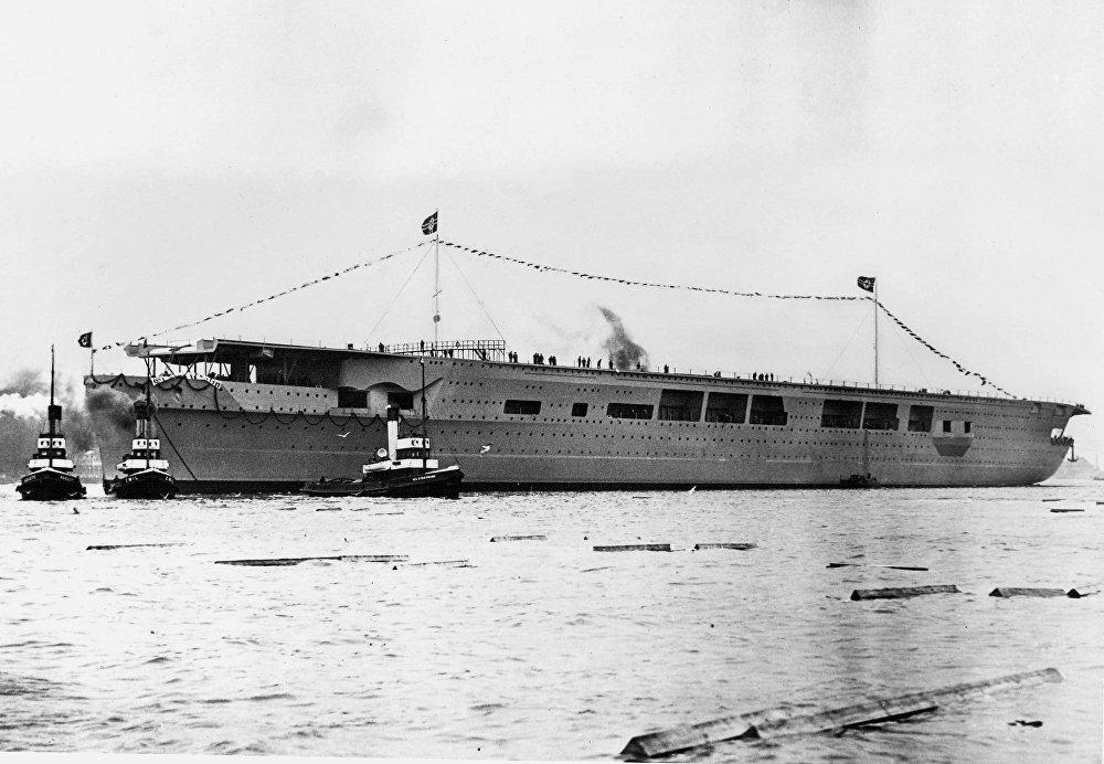 El portaviones alemán Graf Zeppelin