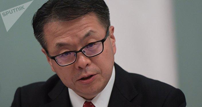 Hiroshige Seco, ministro de Economía, Comercio e Industria de Japón