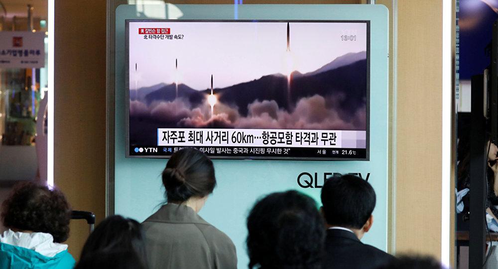 Lanzamiento de misiles de Corea del Norte