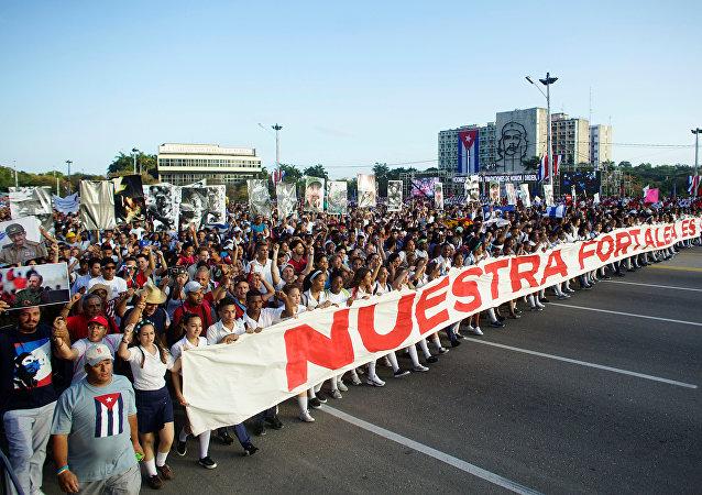 Día de los Trabajadores en La Habana