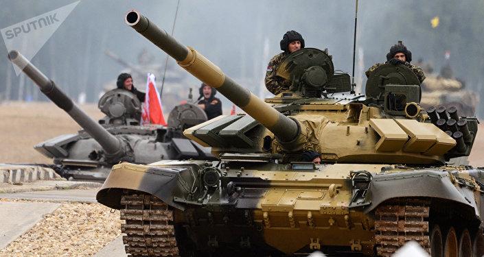 Tanque T-72B3 serbio