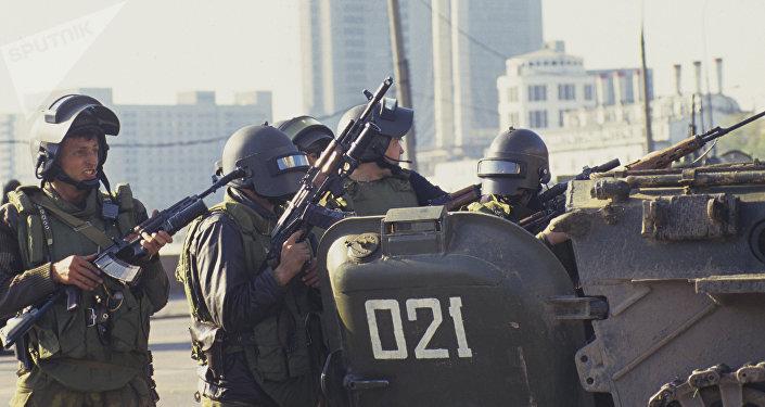 Soldados de los grupos Alfa y Vympel (archivo)