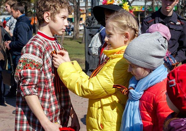 Niños rusos en Irkutsk (archivo)