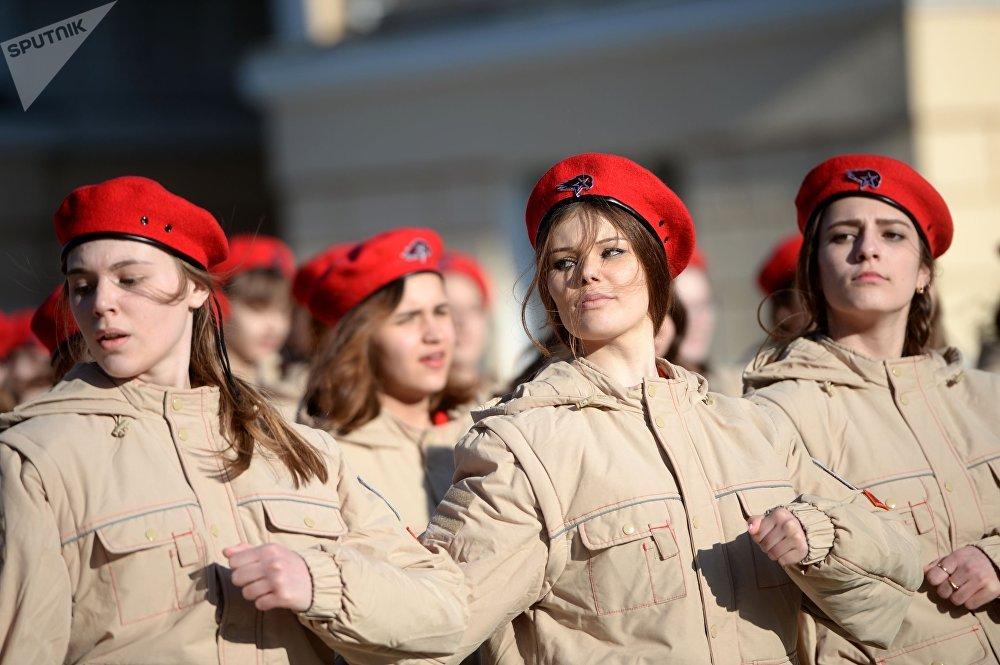 Ensayos del desfile militar para el Día de la Victoria, en la ciudad rusa de Ekaterimburgo