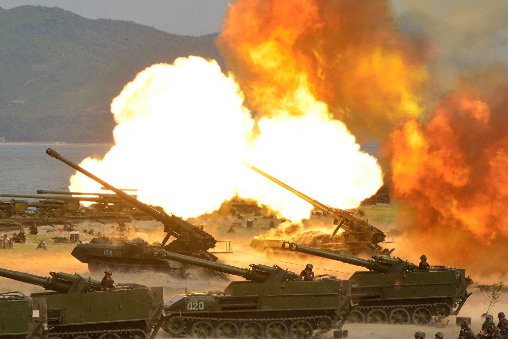 Celebración del 85º aniversario del Ejército Popular de Corea del Norte