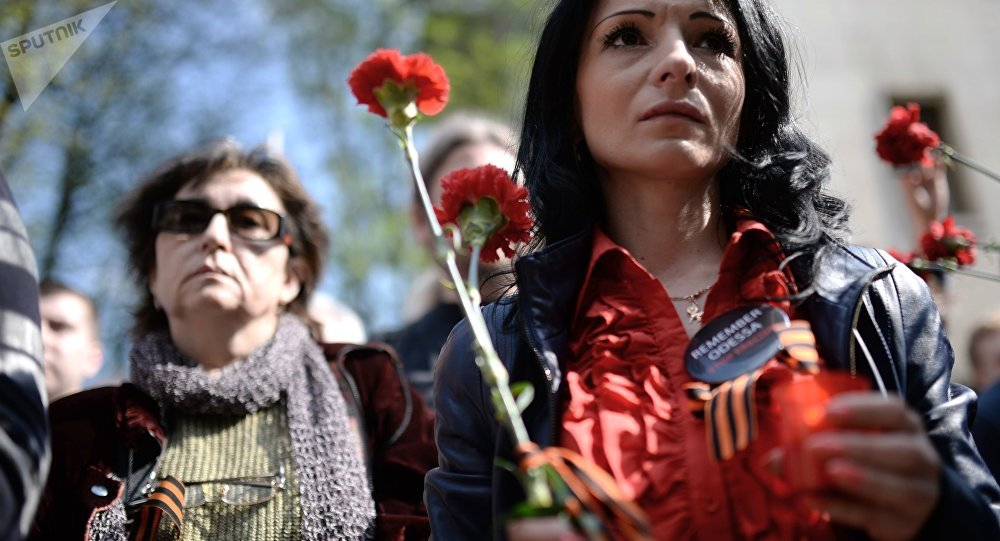 Acto conmemorativo en Odesa