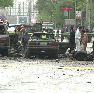 Las primeras imágenes del atentado en Kabul cerca de la embajada de EEUU