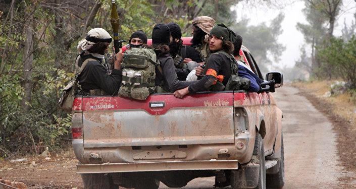 Miembros del grupo terrorista Ahrar al Sham