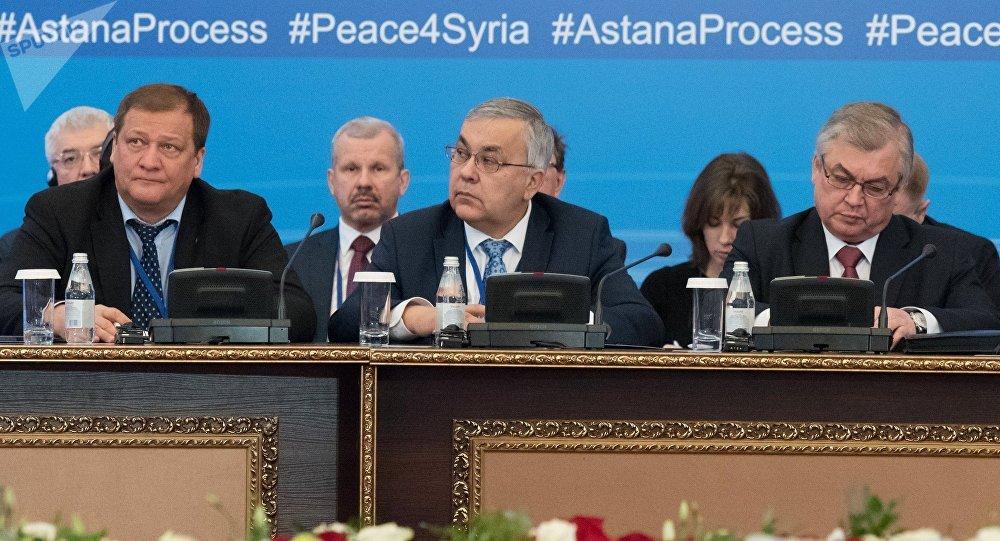 La delegación rusa en Astaná