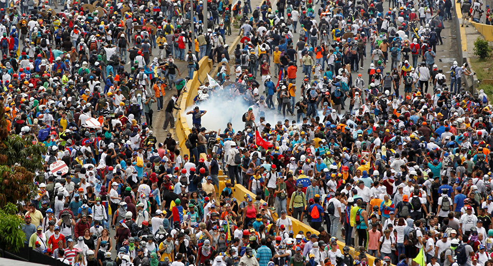 Disturbio en Caracas