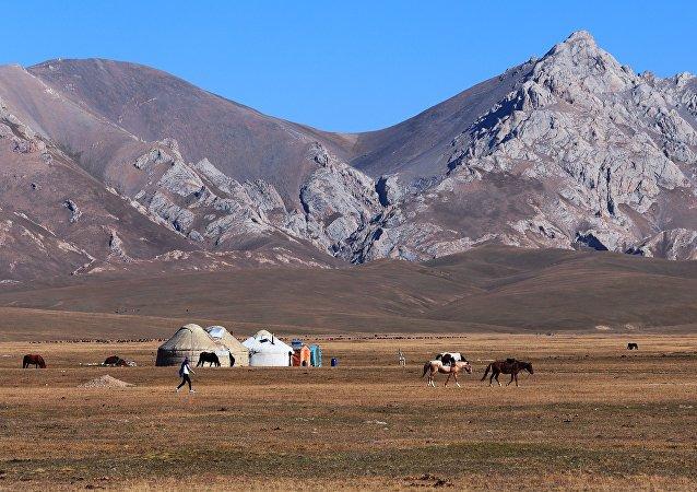 Las montañas de Kirguistán