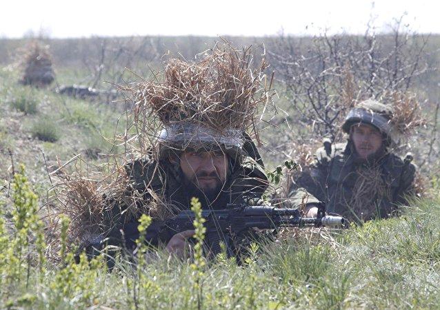Soldados en Ucrania