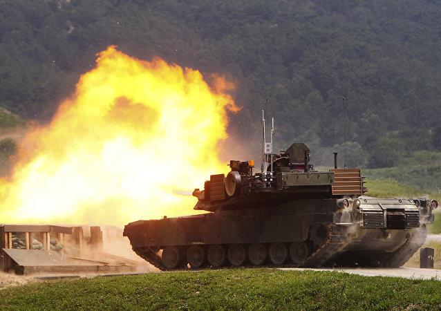 Tanque estadounidense M1A2 SEP Abrams (archivo)