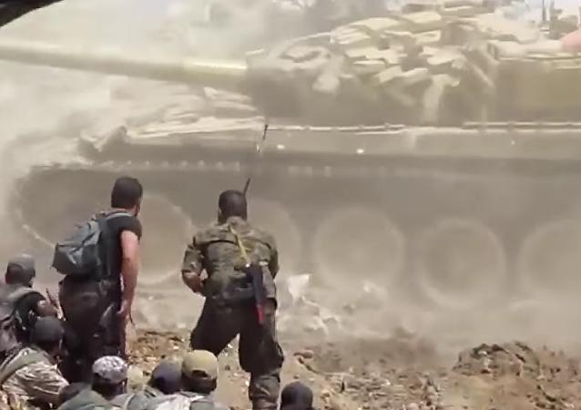 El tanque T-72 libra feroces combates en Siria