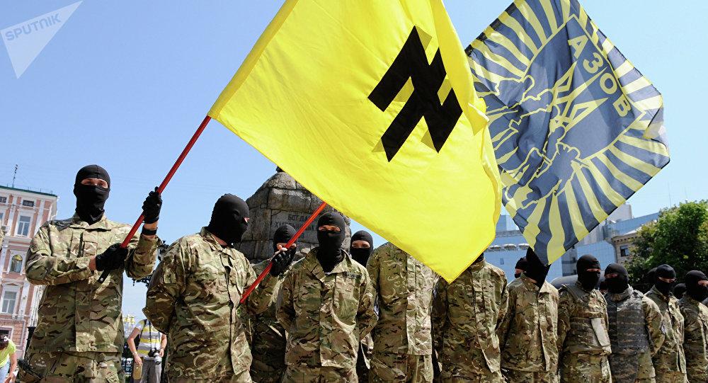Combatientes del batallón Azov