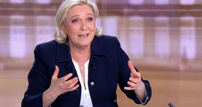 Marine Le Pen, la líder del partido Frente Nacional