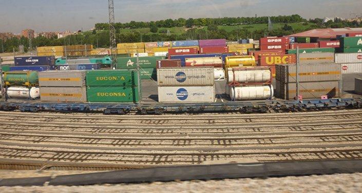 Un puerto seco (imagen referencial)