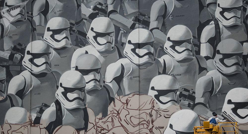 Un graffiti de Star Wars